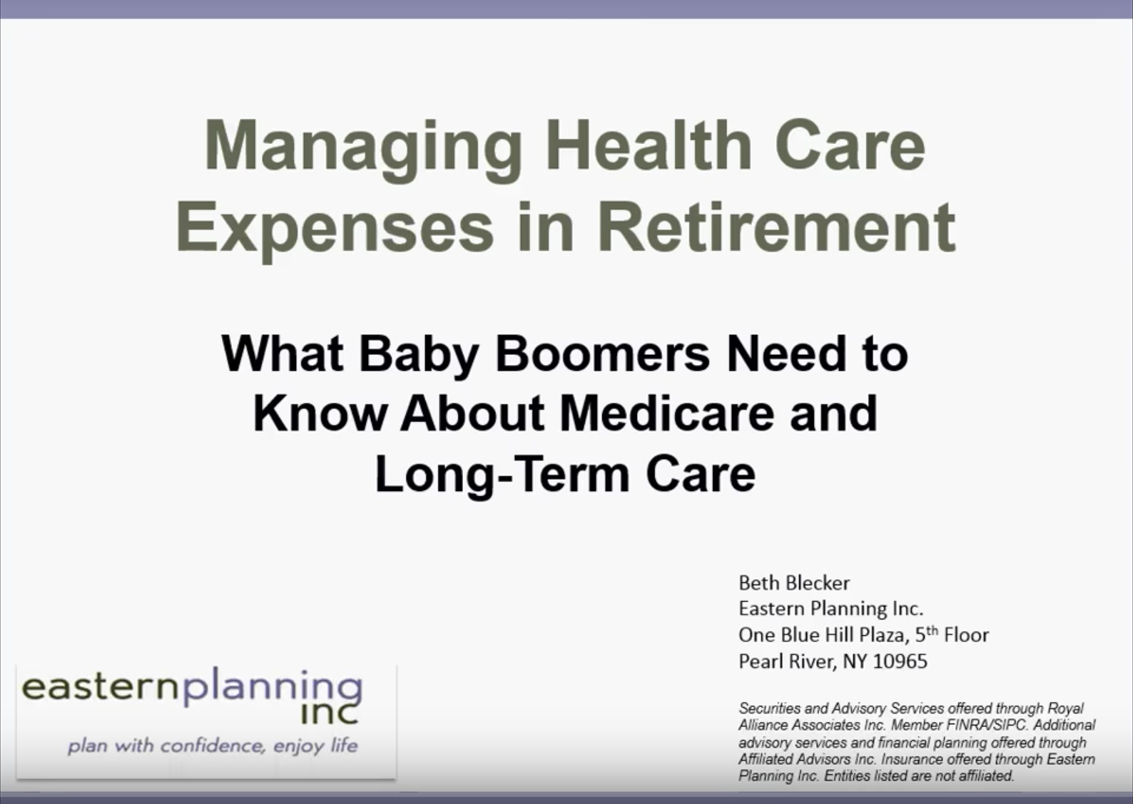 Managing Health Care Expenses in Retirement Thumbnail