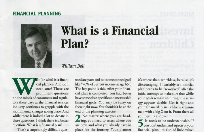What is a Financial Plan? Thumbnail