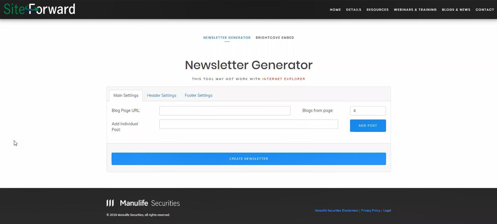 Newsletter  Generator Tool Thumbnail