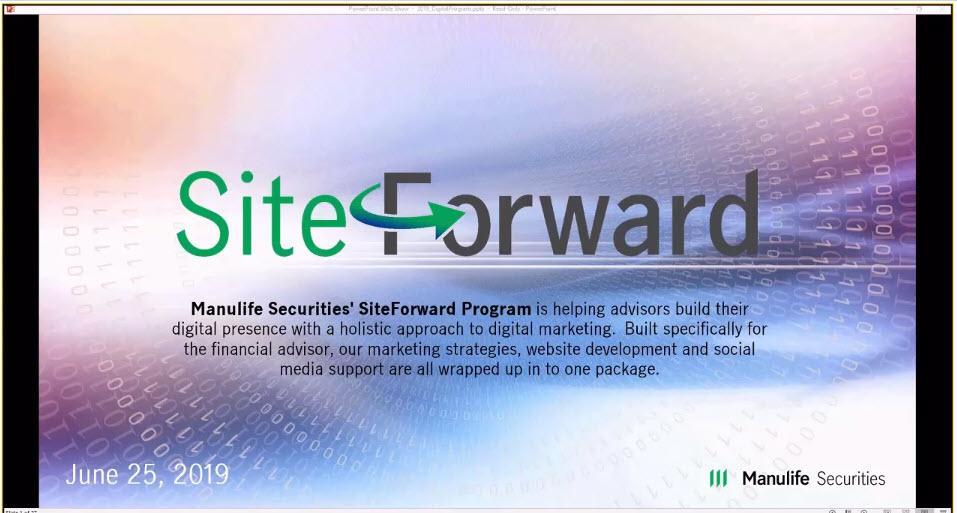 Advisor Webinar: About Manulife Securities' SiteForward Digital Program Thumbnail