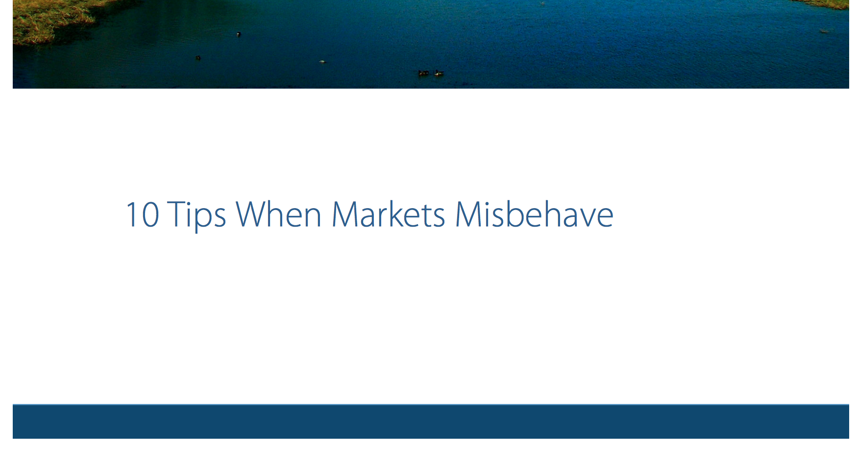 10 Tips When the Markets Misbehave Thumbnail