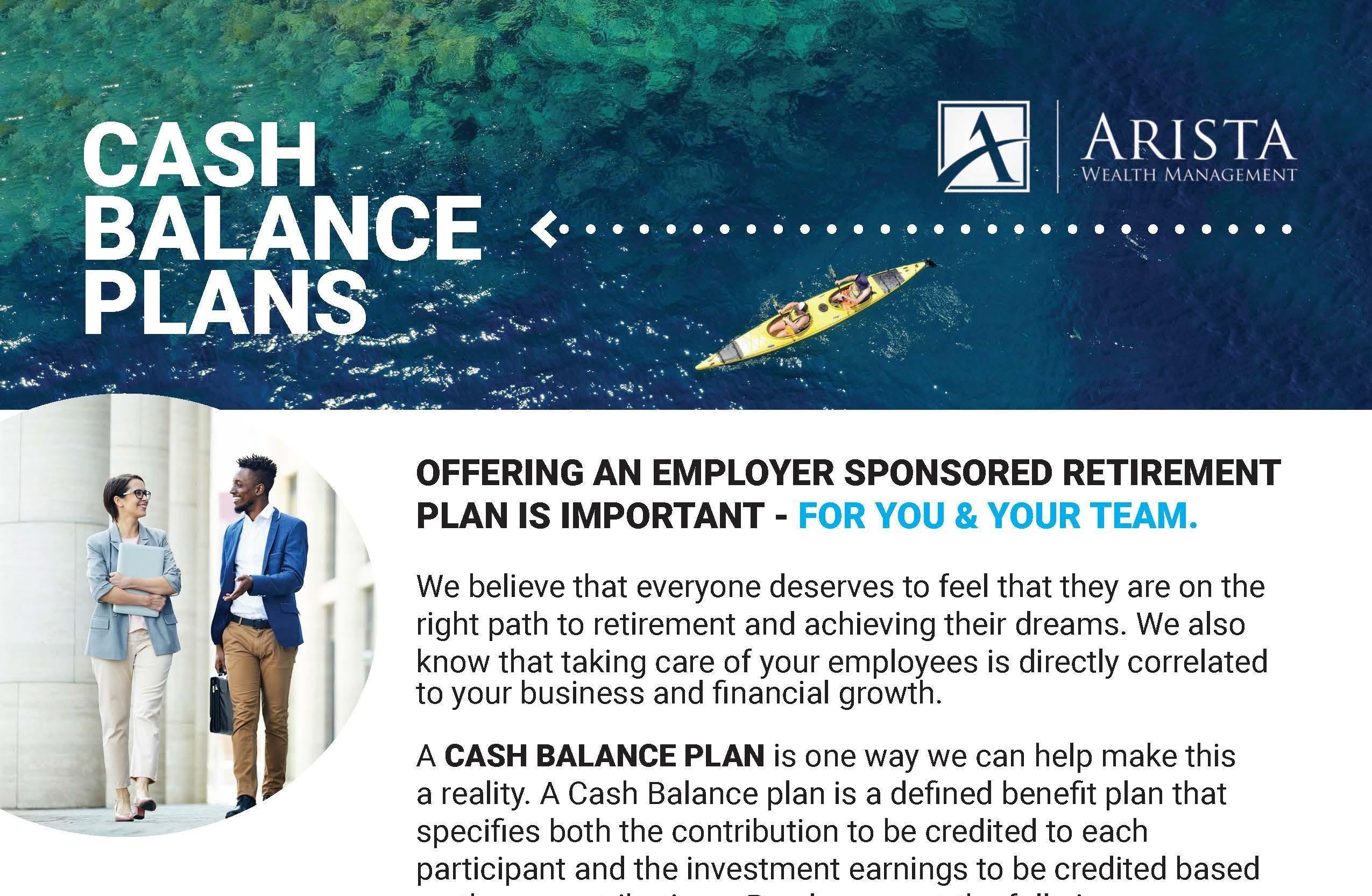 Cash Balance Plan Brochure Thumbnail