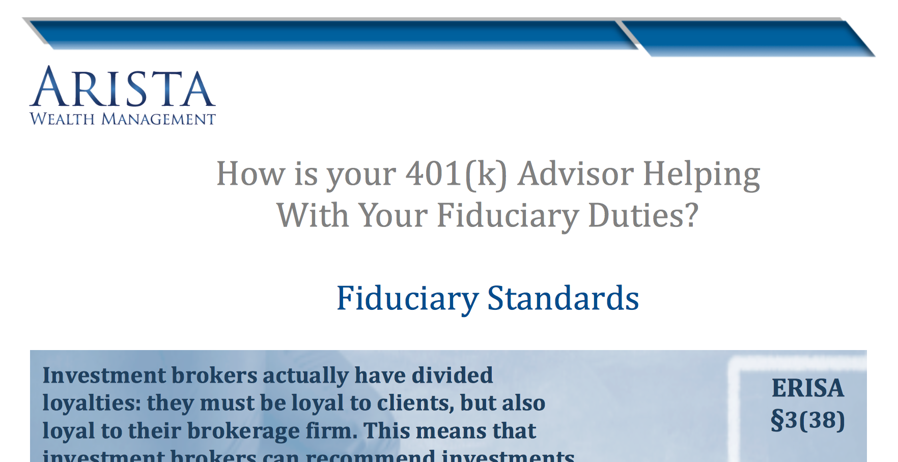 Arista Wealth Fiduciary Standards Thumbnail