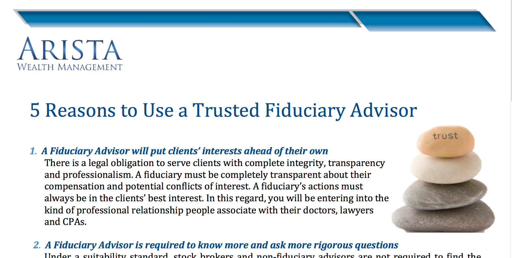 5 Reasons to Use a Trust Fiduciary Advisor Thumbnail