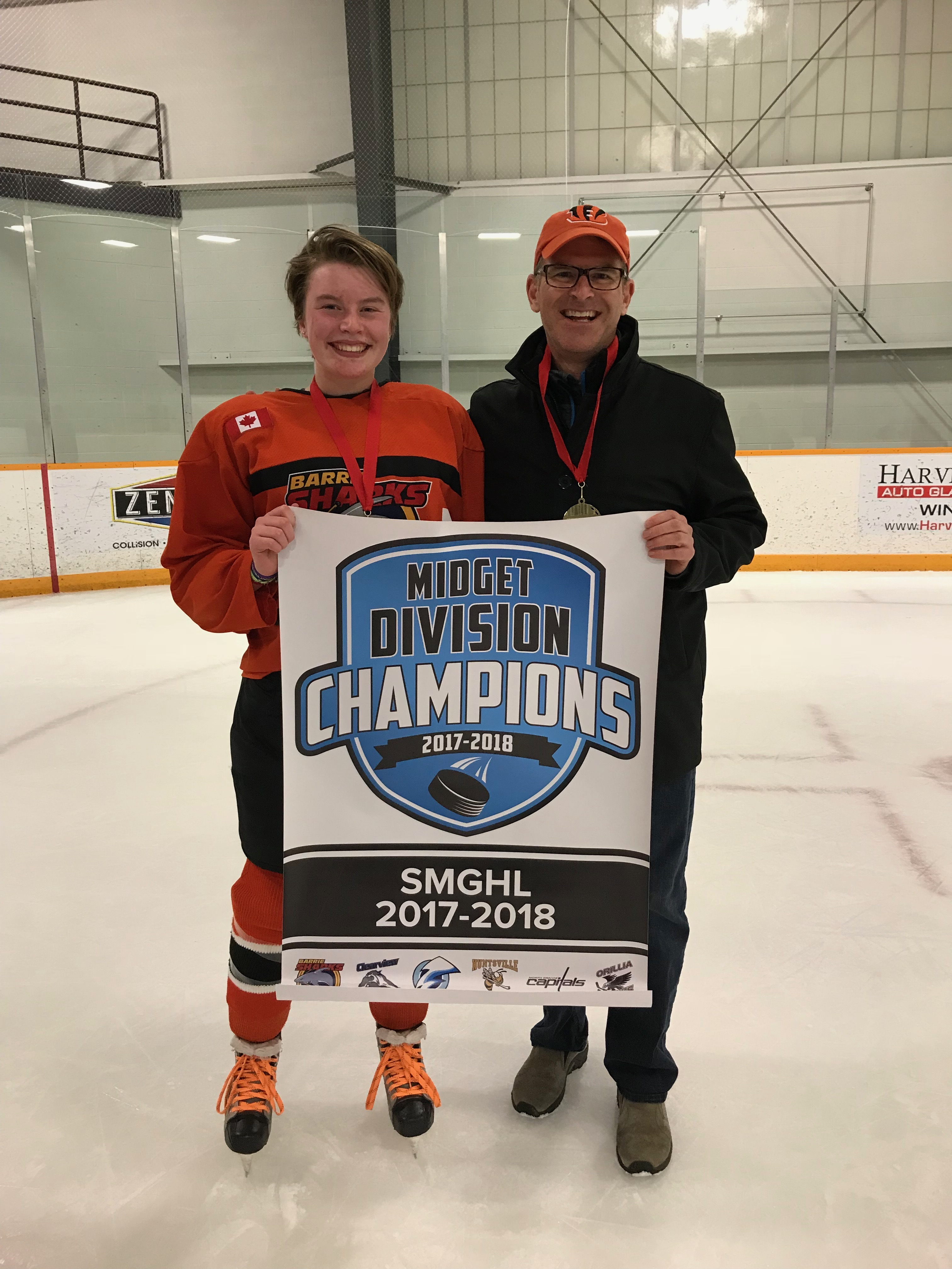Steve Lowrie, Lowrie Financial, midget division champions 2017-2018 Ontario