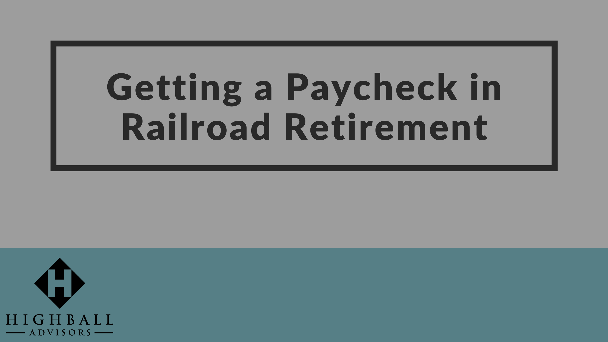 VIDEO: Getting a Paycheck in Railroad Retirement Thumbnail