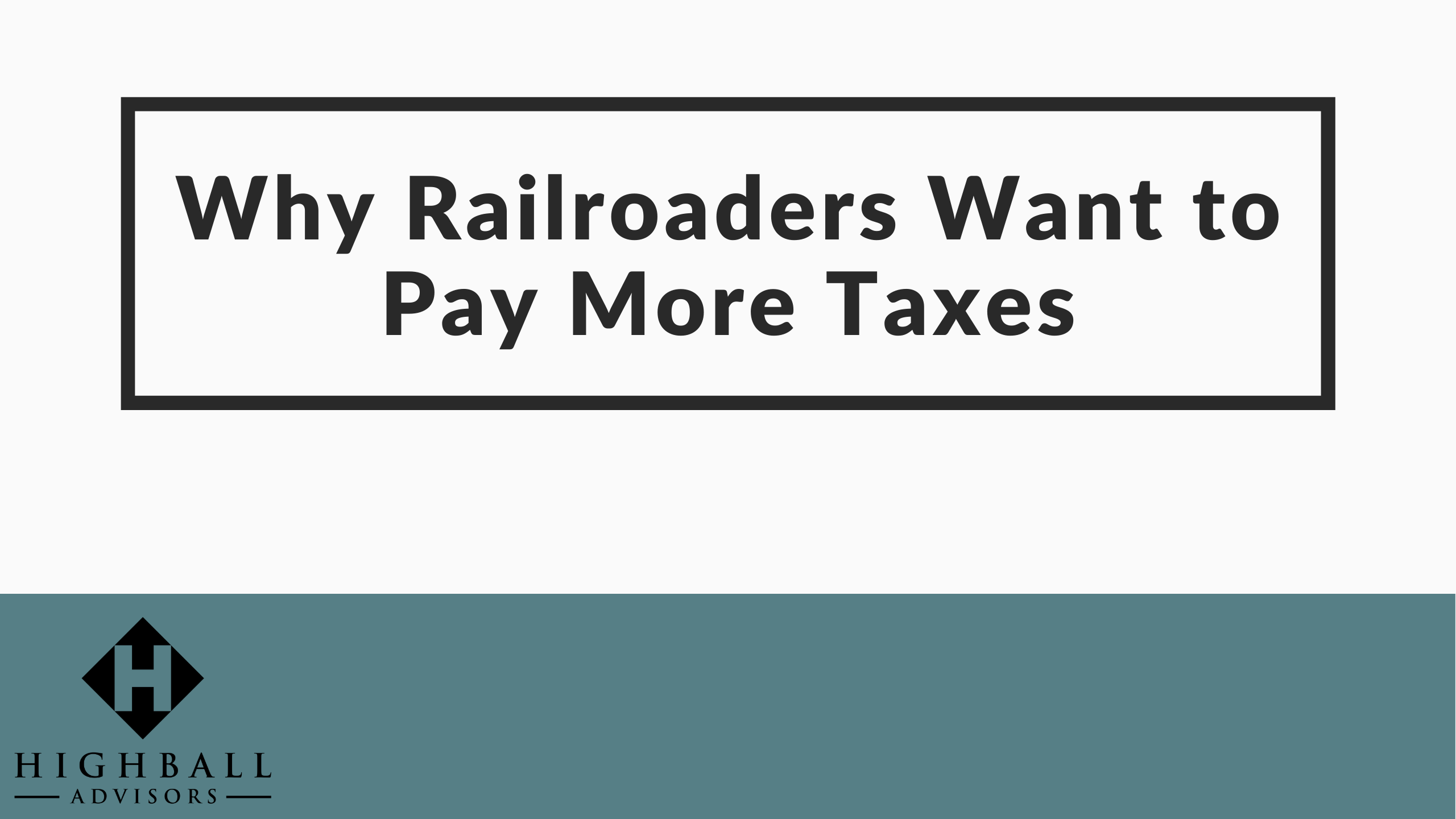 VIDEO: Why Railroaders Want to Pay More Taxes Thumbnail