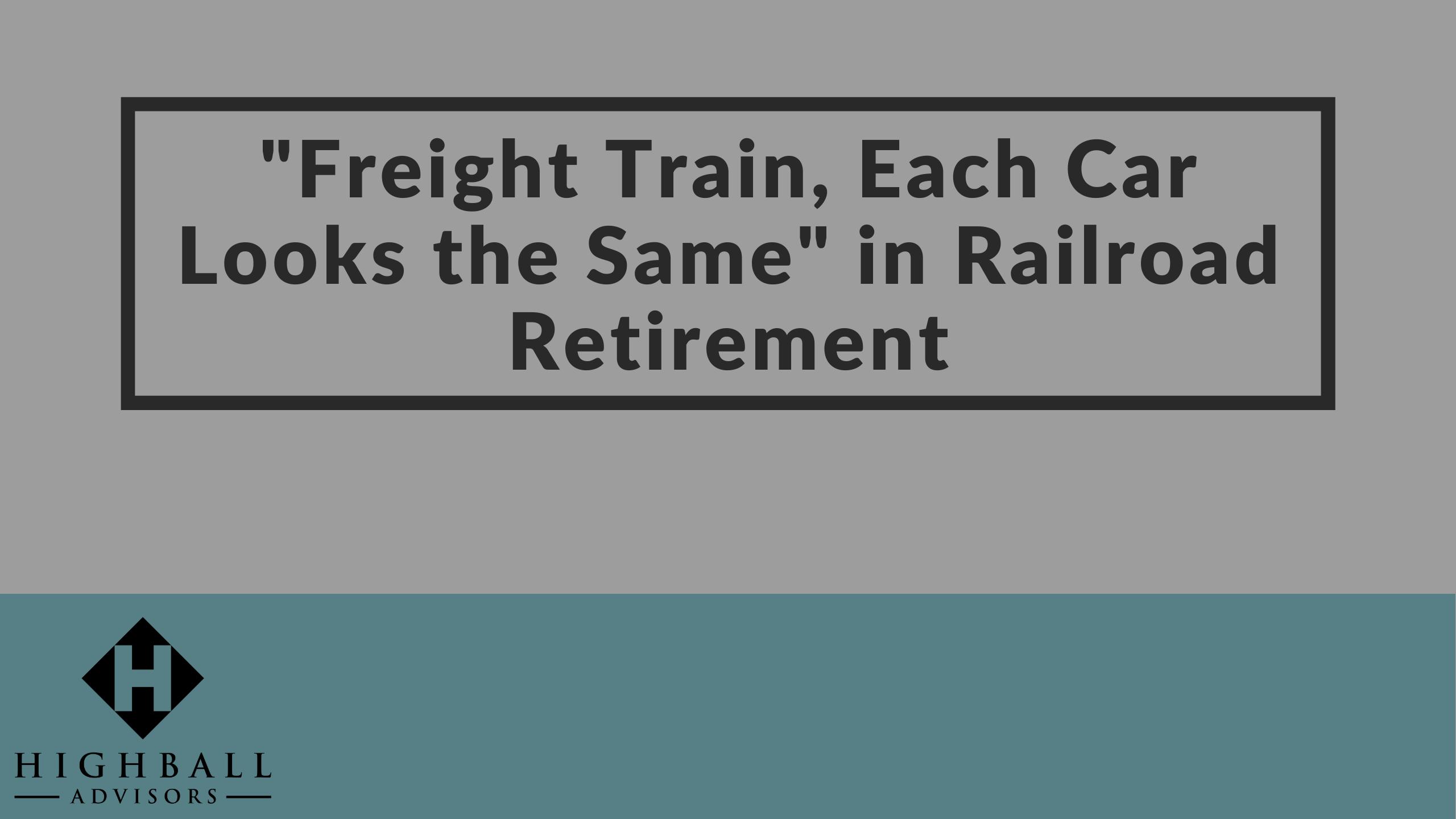 "VIDEO: ""Freight Train, Each Car Looks the Same"" in Railroad Retirement Thumbnail"