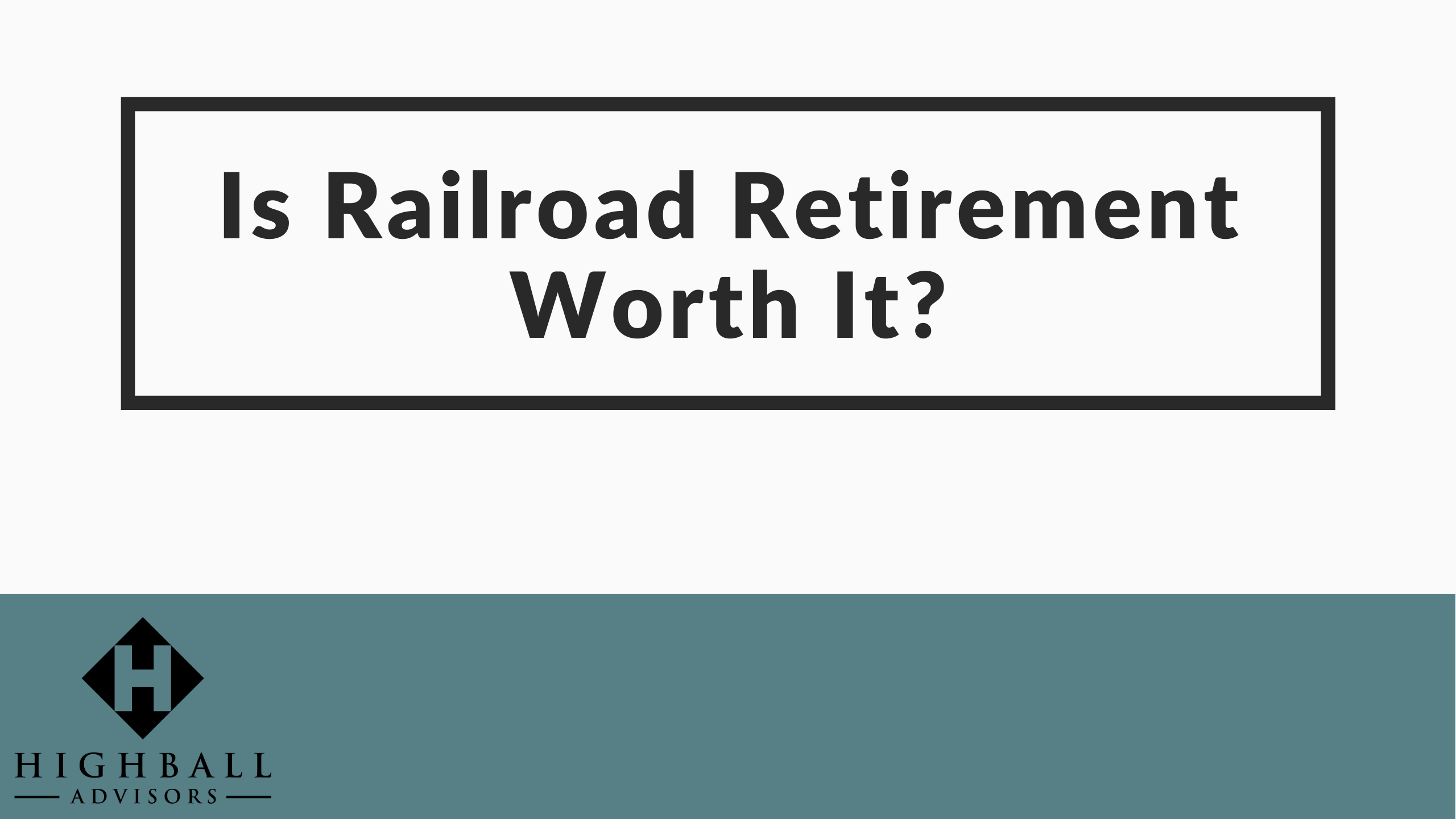 VIDEO: Is Railroad Retirement Worth It? Thumbnail