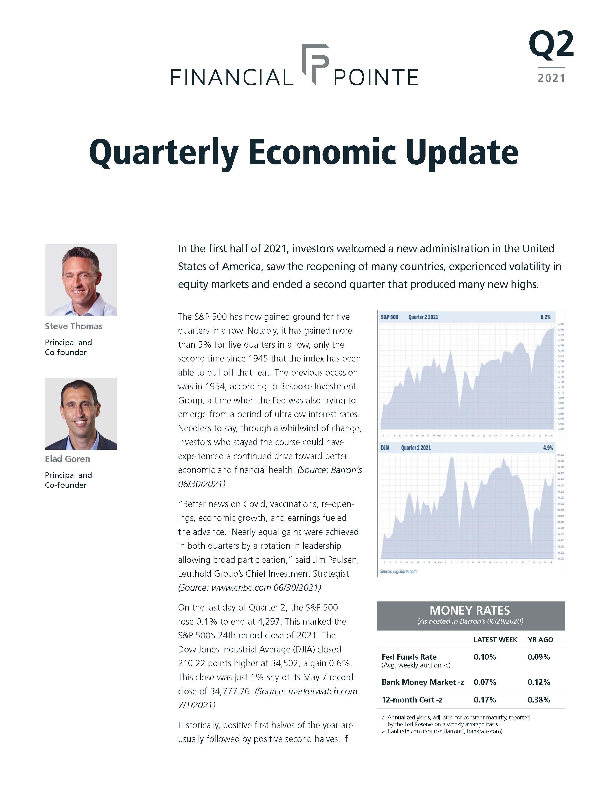 Quarterly Economic Update - Q2 2021 Thumbnail