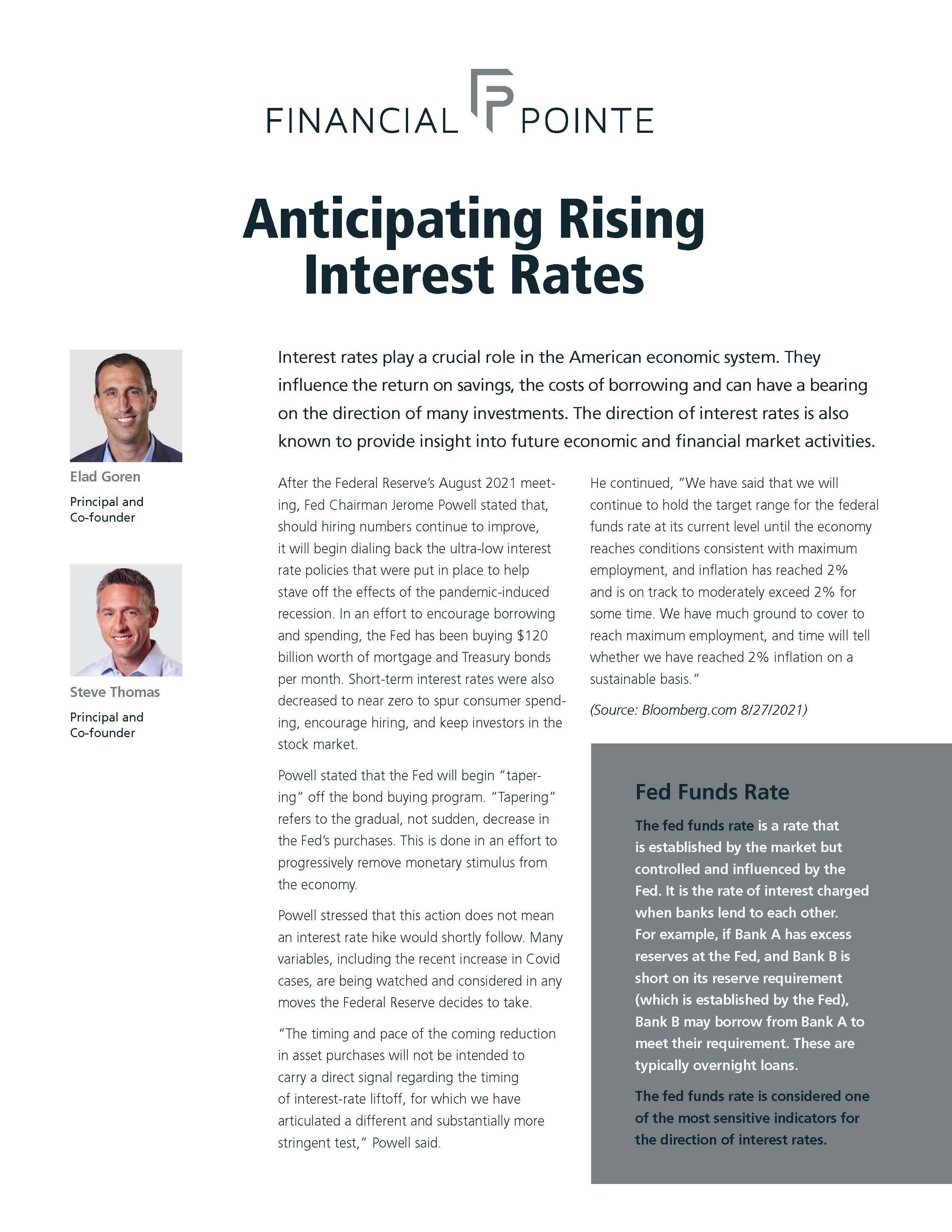 Anticipating Rising Interest Rates Thumbnail