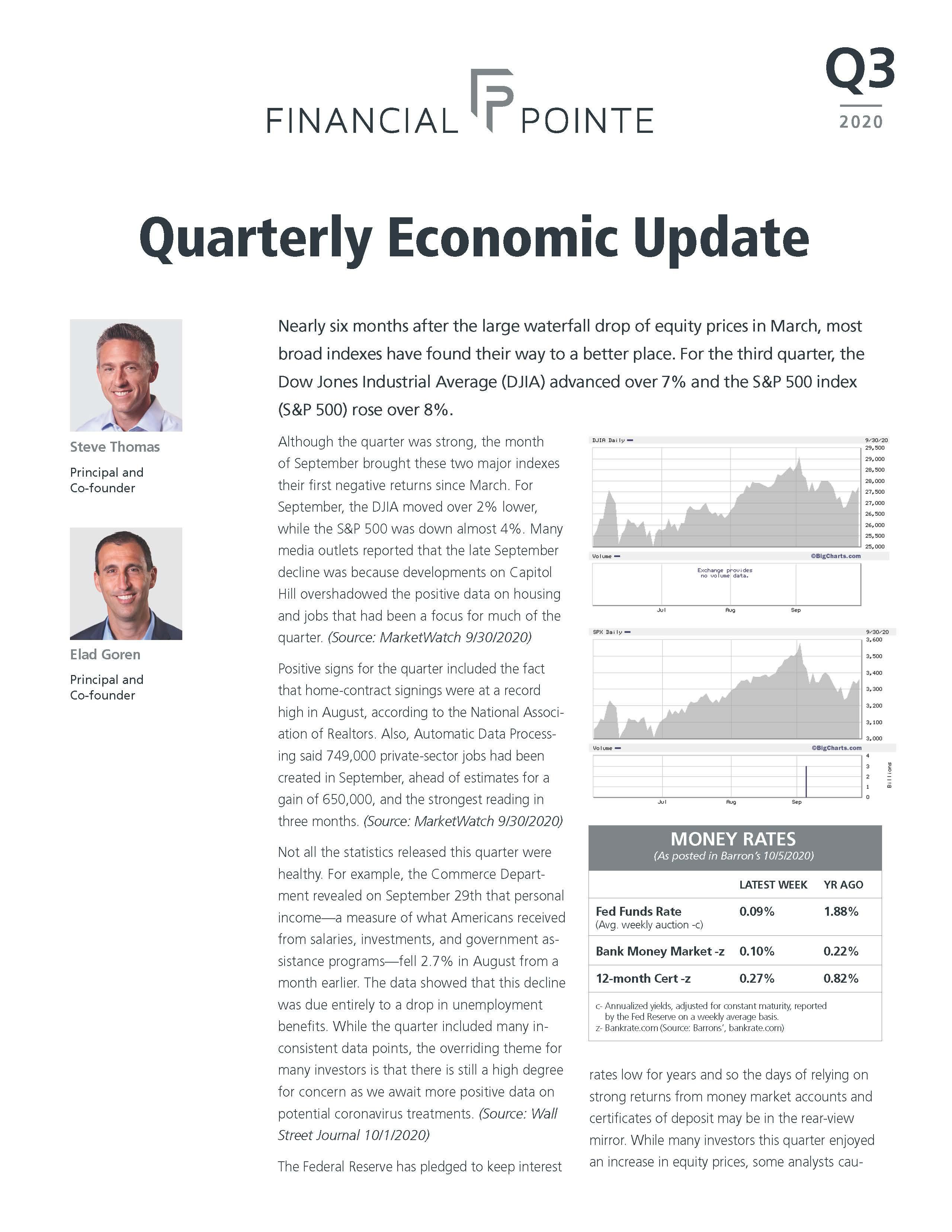 Quarterly Economic Update - Q3 2020 Thumbnail