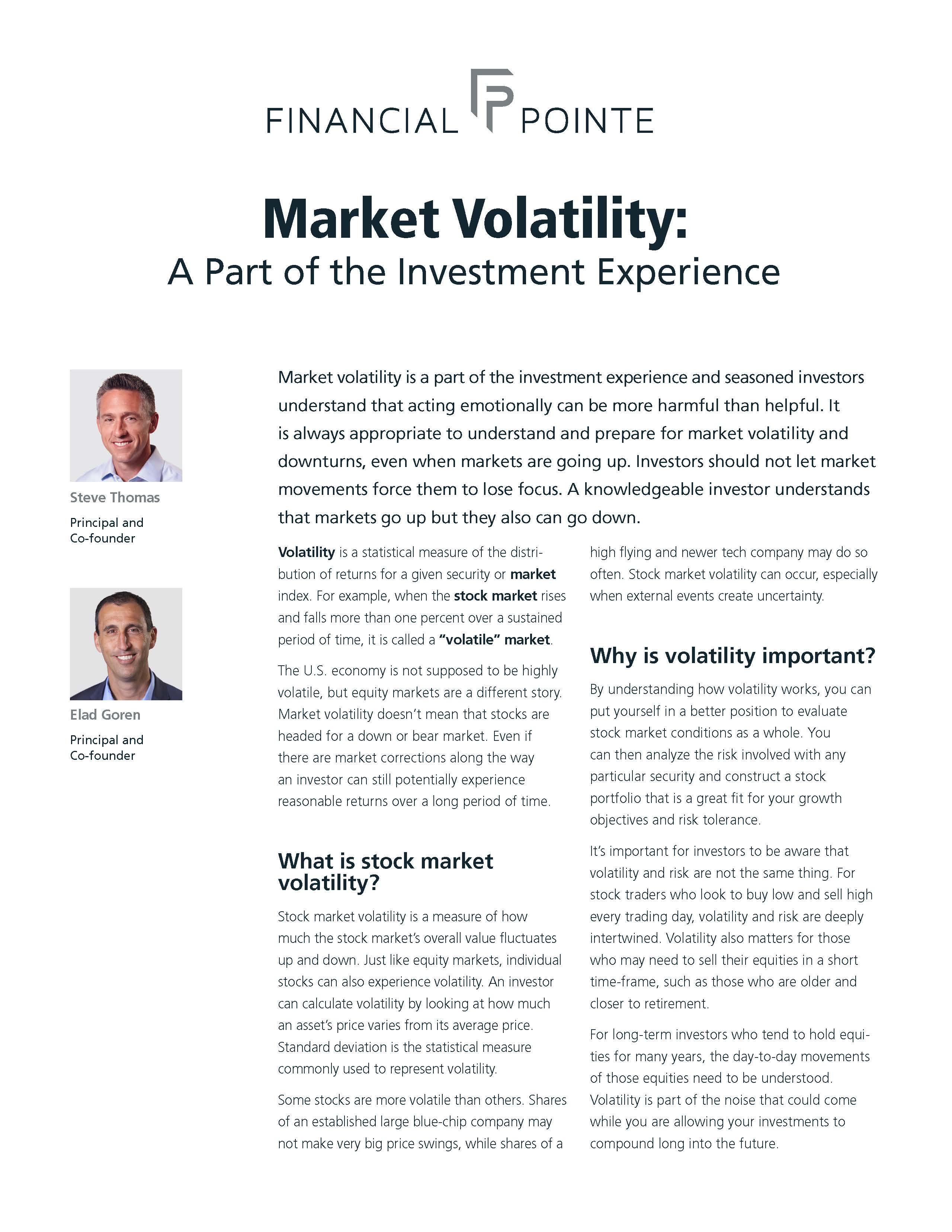 Market Volatility: A Part of the Investment Experience Thumbnail