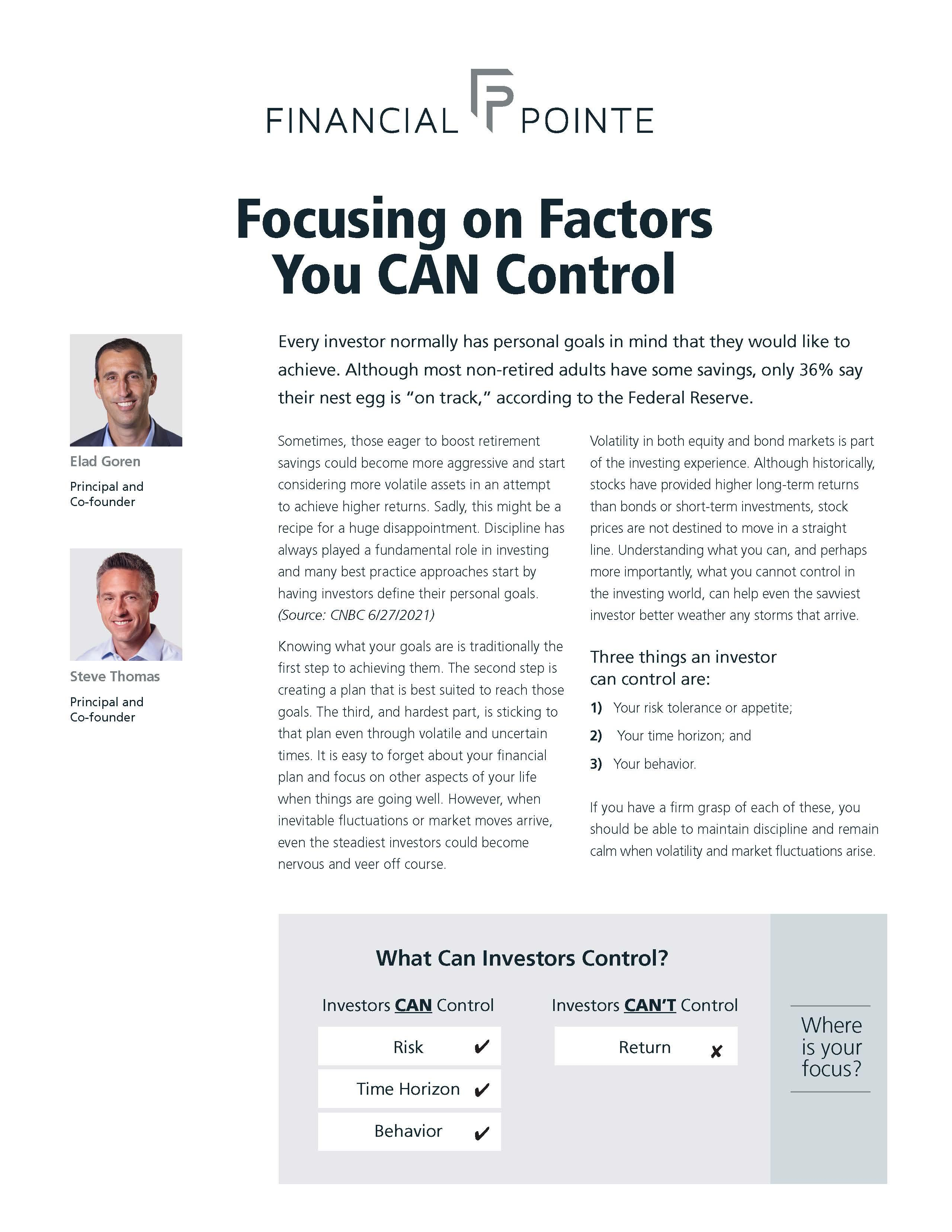 Focusing on Factors You CAN Control Thumbnail