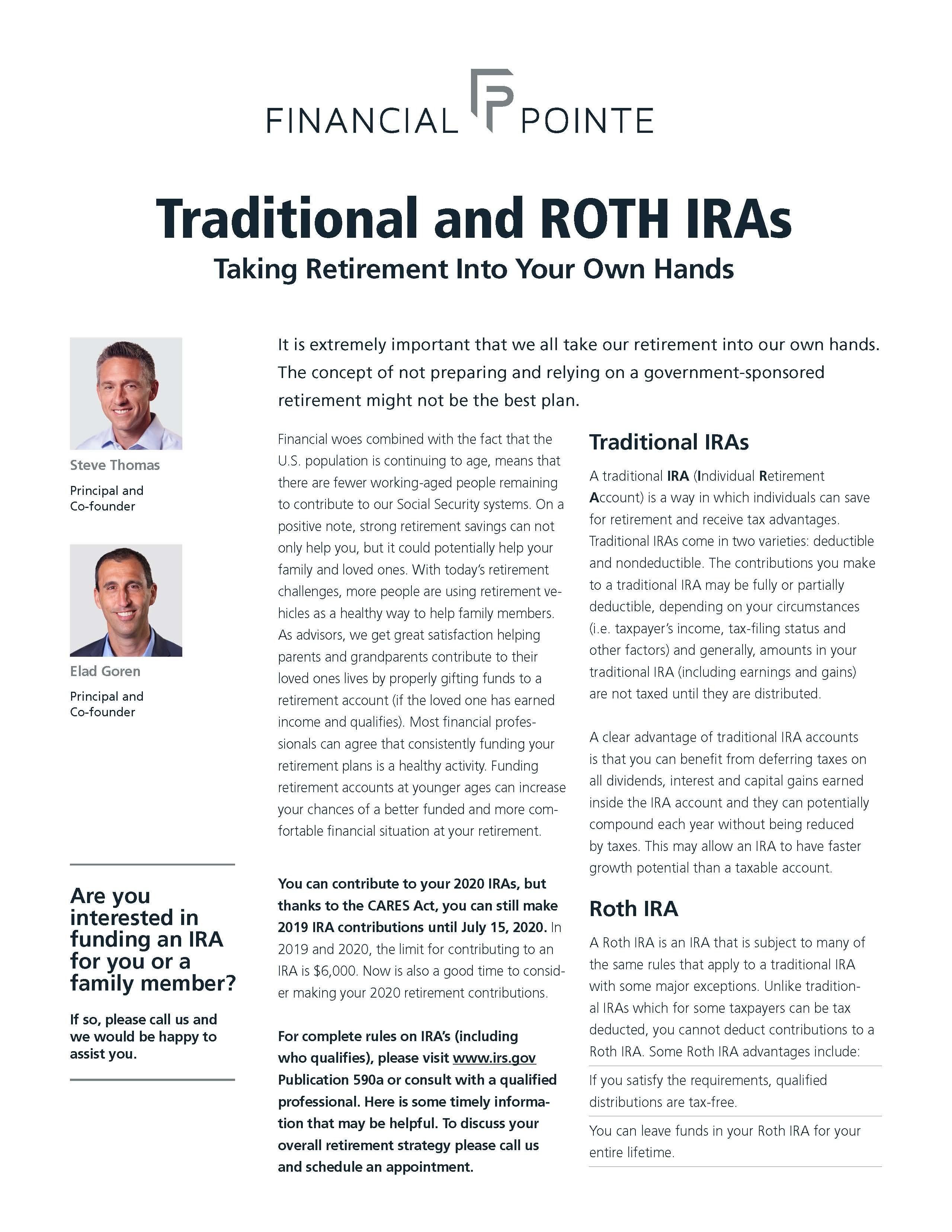 Traditional and Roth IRAs Thumbnail