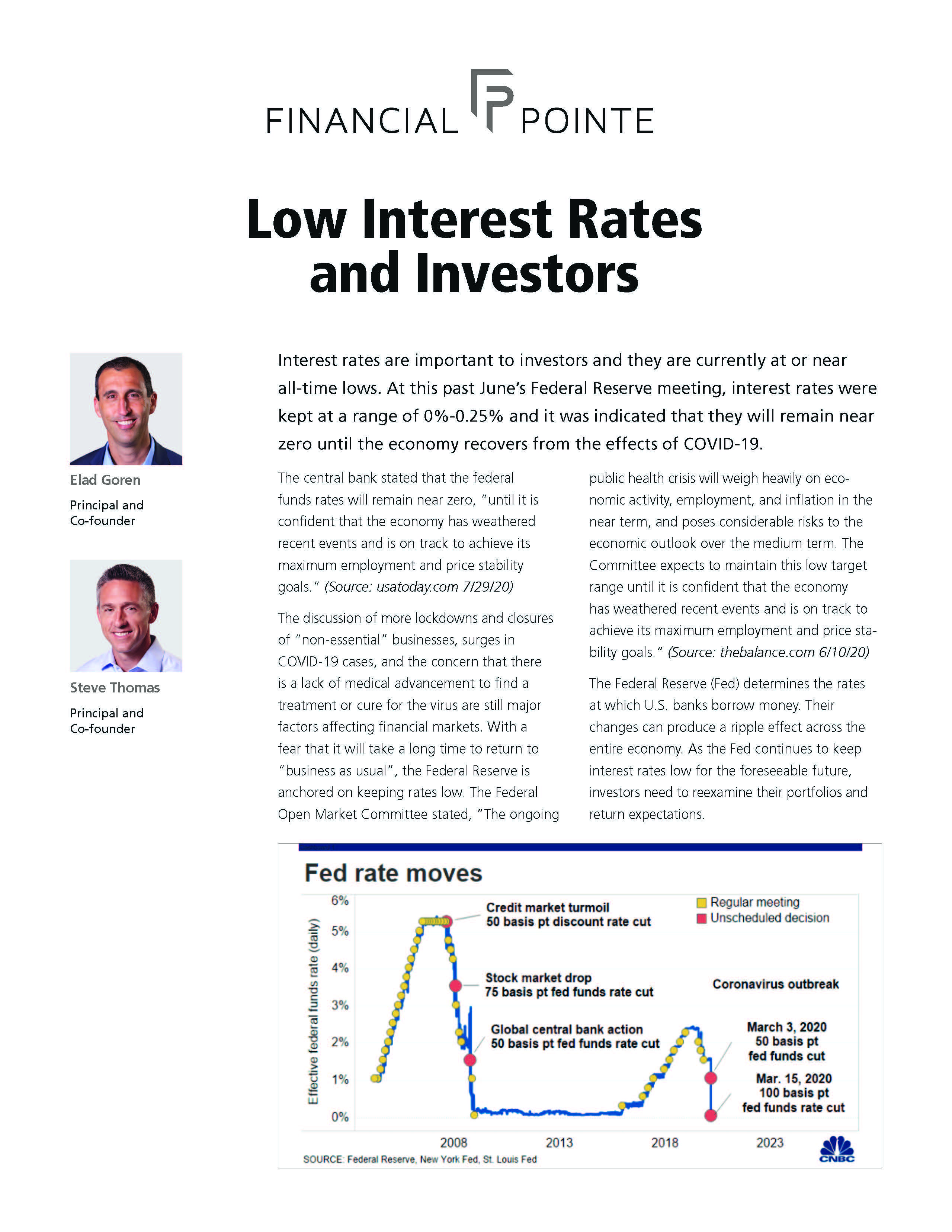 Low Interest Rates and Investors Thumbnail