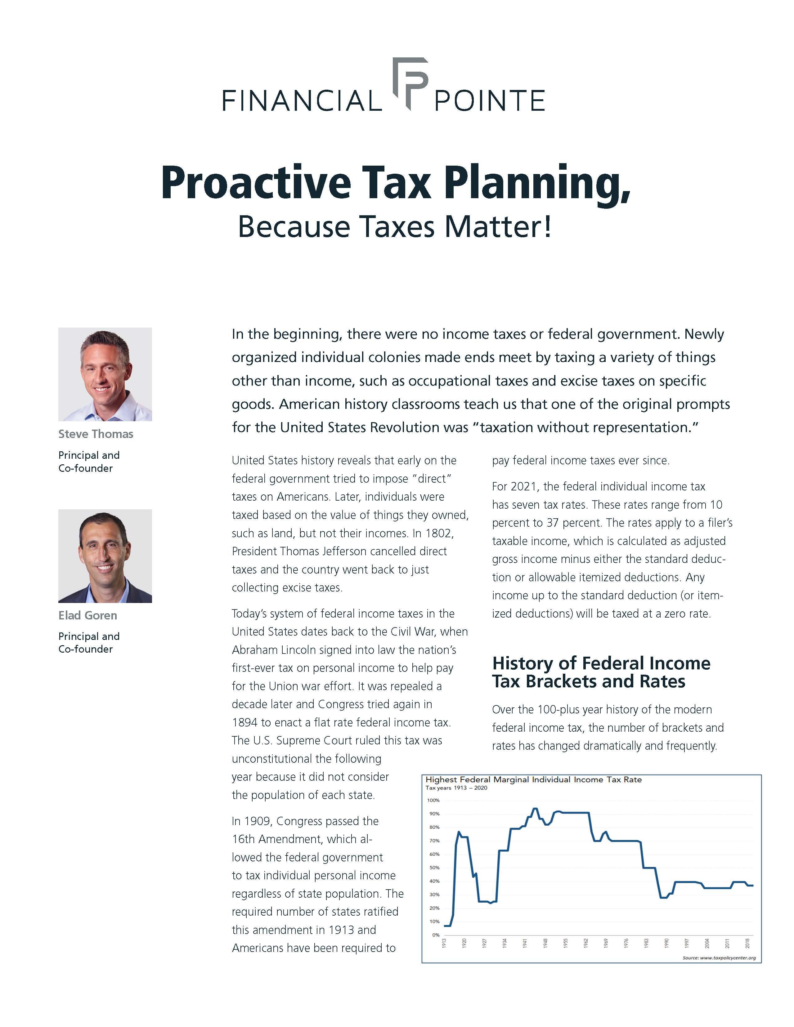 Proactive Tax Planning Thumbnail