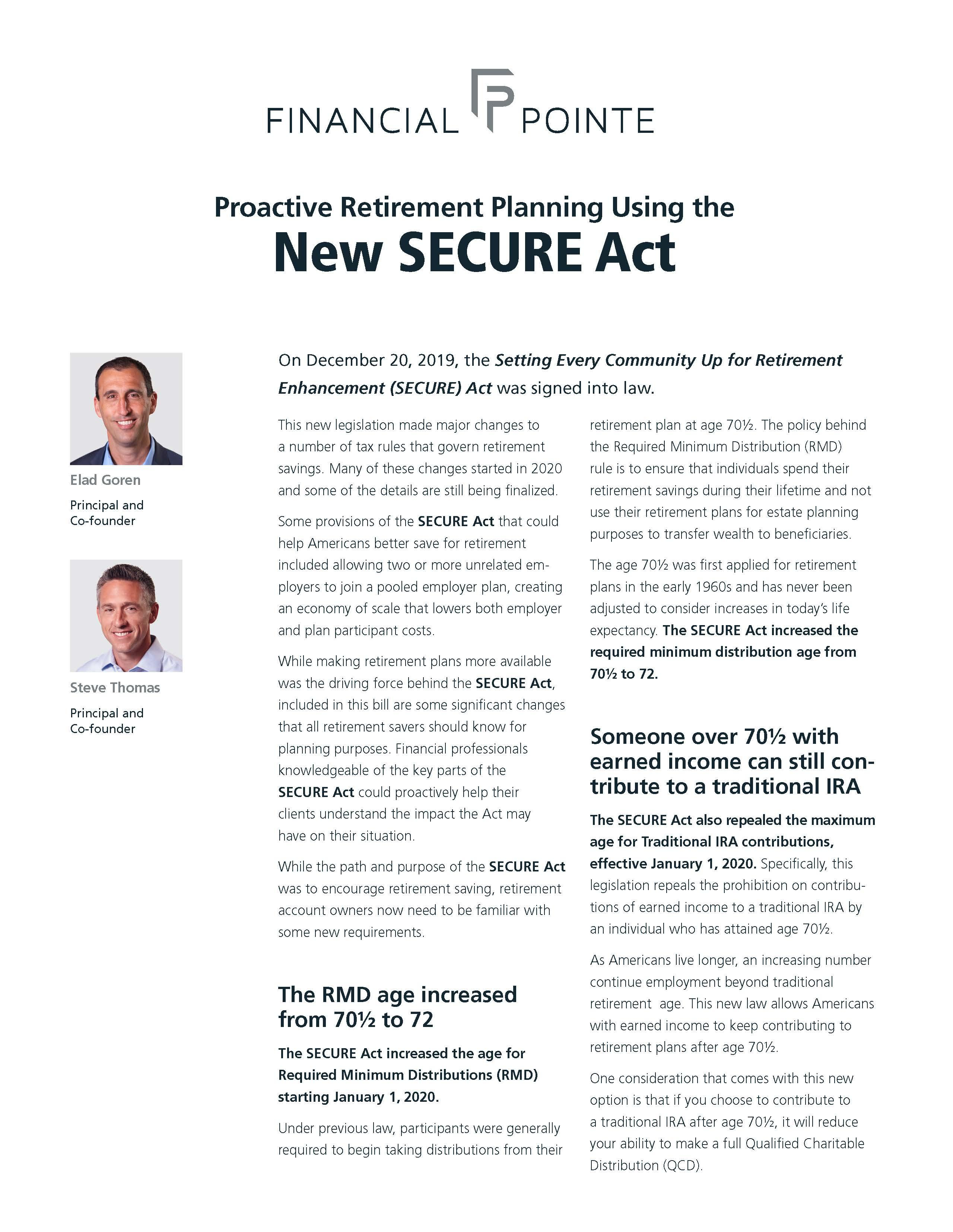 New SECURE Act Thumbnail