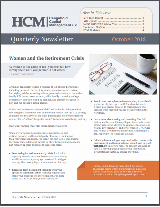 2018 October Quarterly Newsletter Thumbnail
