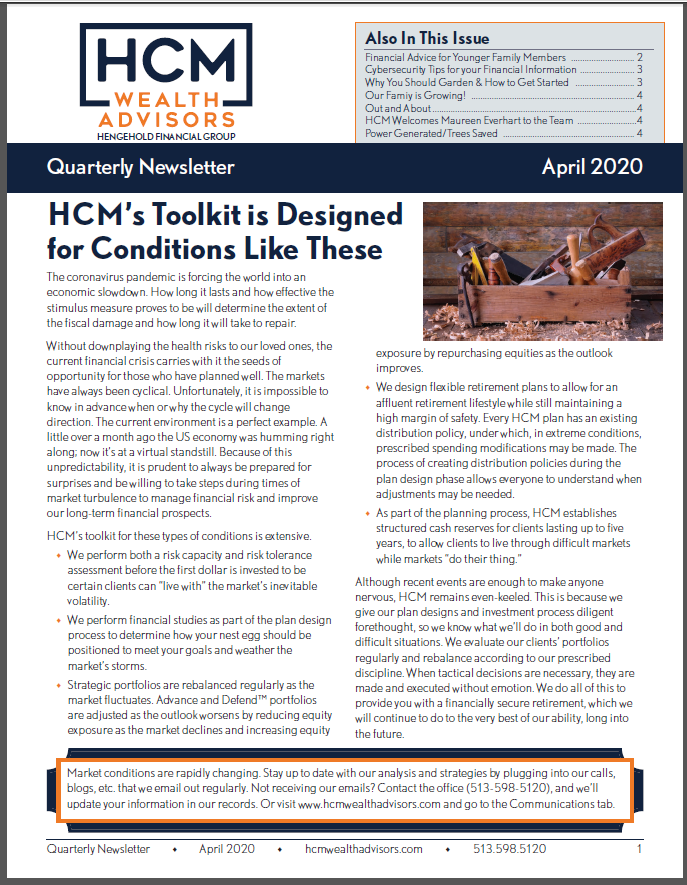 April 2020 Newsletter Thumbnail