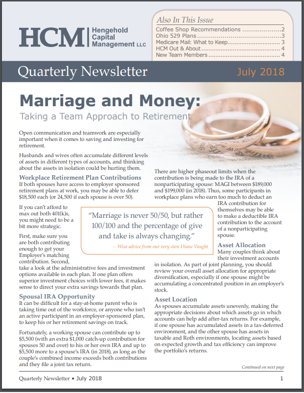 July 2018 Quarterly Newsletter Thumbnail