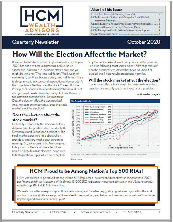 October 2020 Newsletter Thumbnail