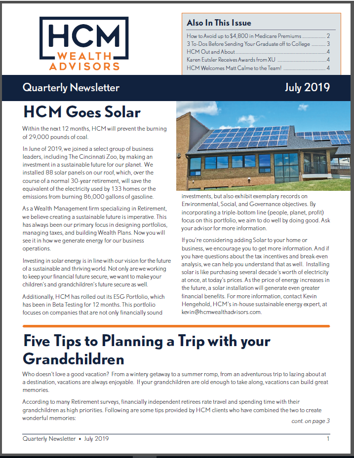 July 2019 Quarterly Newsletter Thumbnail