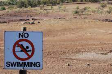 No Swimming Sign-Global Climate Action Summit