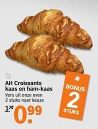 Picture: Albert Heijn. Freshly Baked Ham & Cheese Croissants; 2 for 0.99.