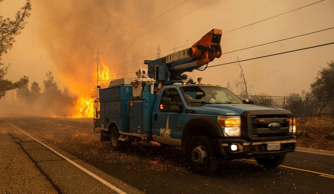 Firetruck-Reference to PG&E returns to bankruptcy