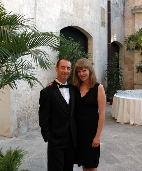 Chris and his wife at their wedding