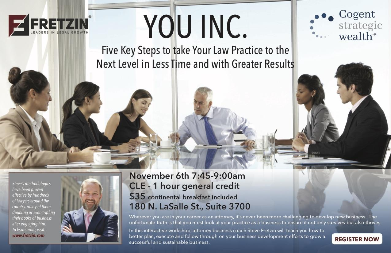 CLE Collaboration with Steve Fretzin: Five Key Steps to Take Your Law Practice to the Next Level Thumbnail
