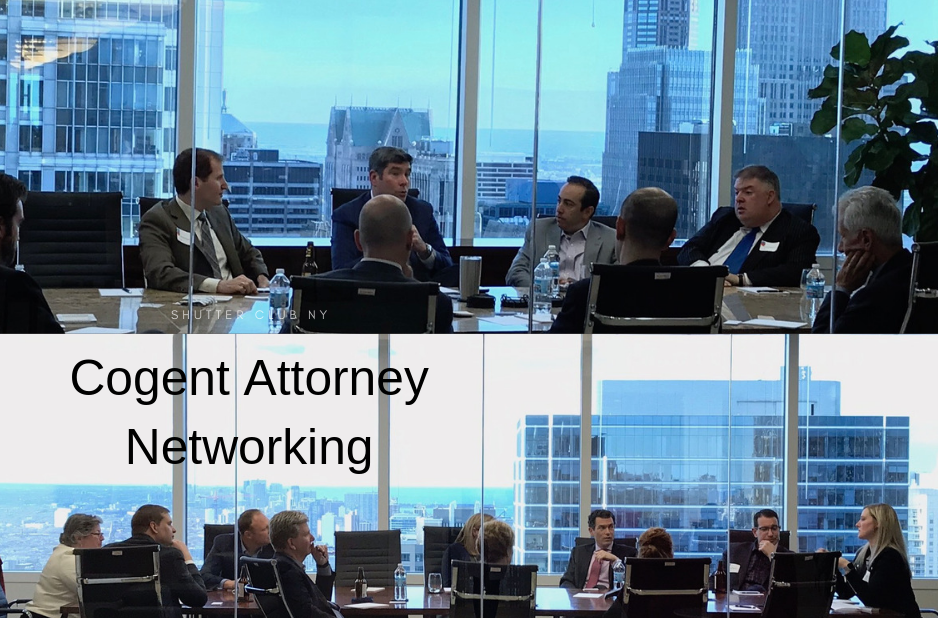 April Cogent Attorney Network Meeting filled 2 rooms