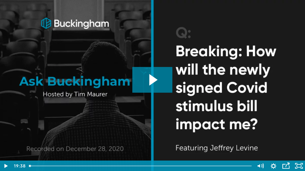 How Will the Newly Signed COVID Stimulus Bill Impact You? Thumbnail