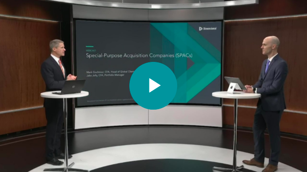 Dimensional Fund Advisors video on SPACs