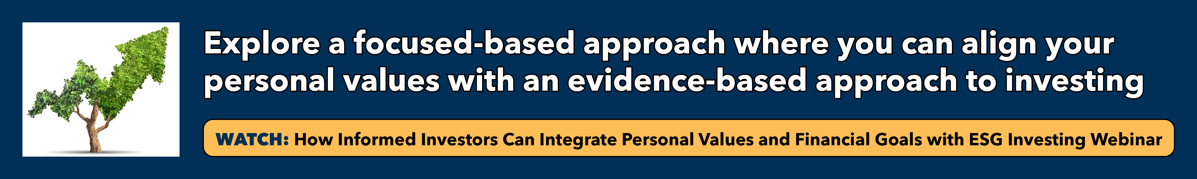Watch webinar on how informed investors can integrate personal values and financial goals