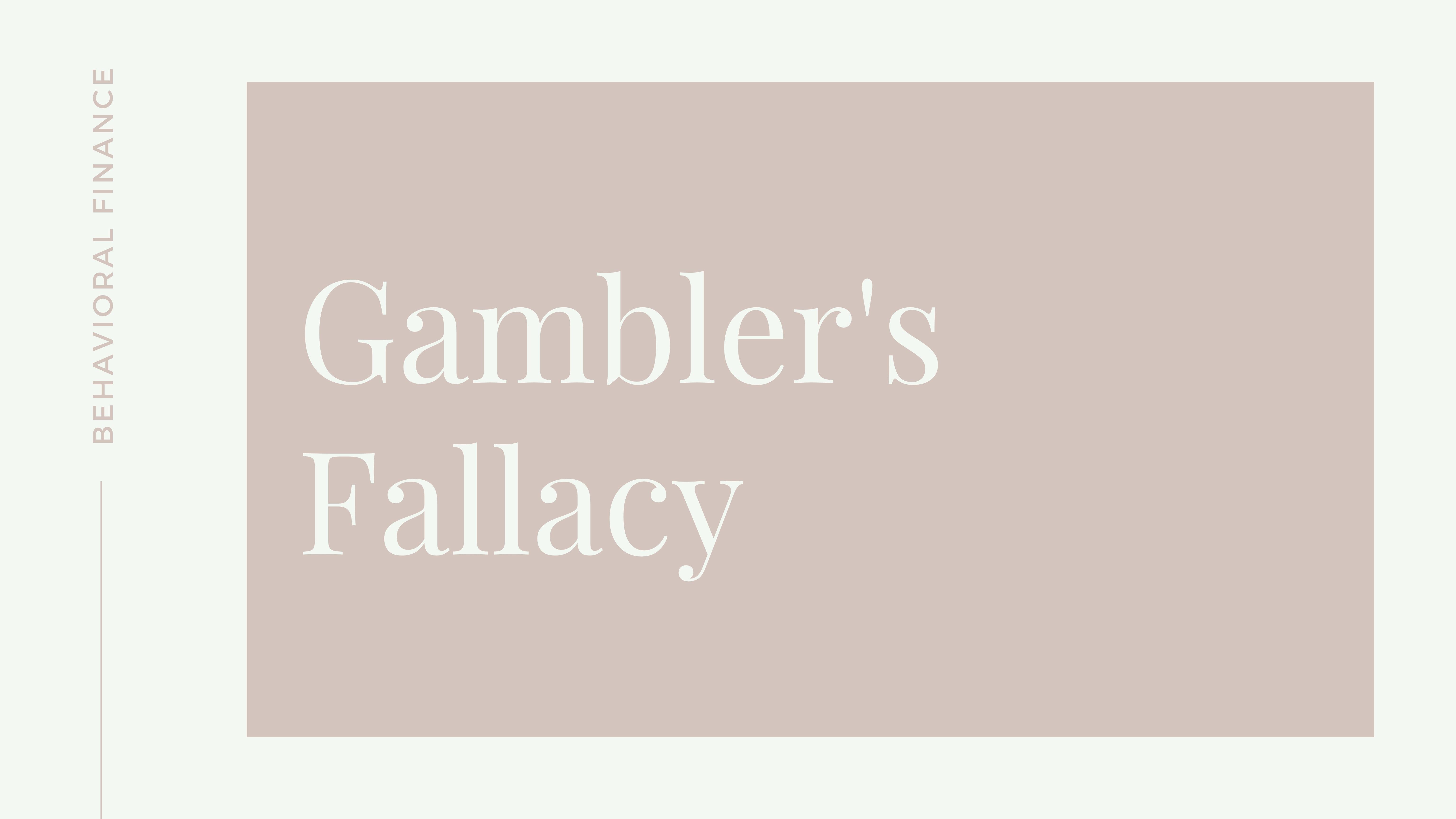 Gambler's Fallacy Thumbnail