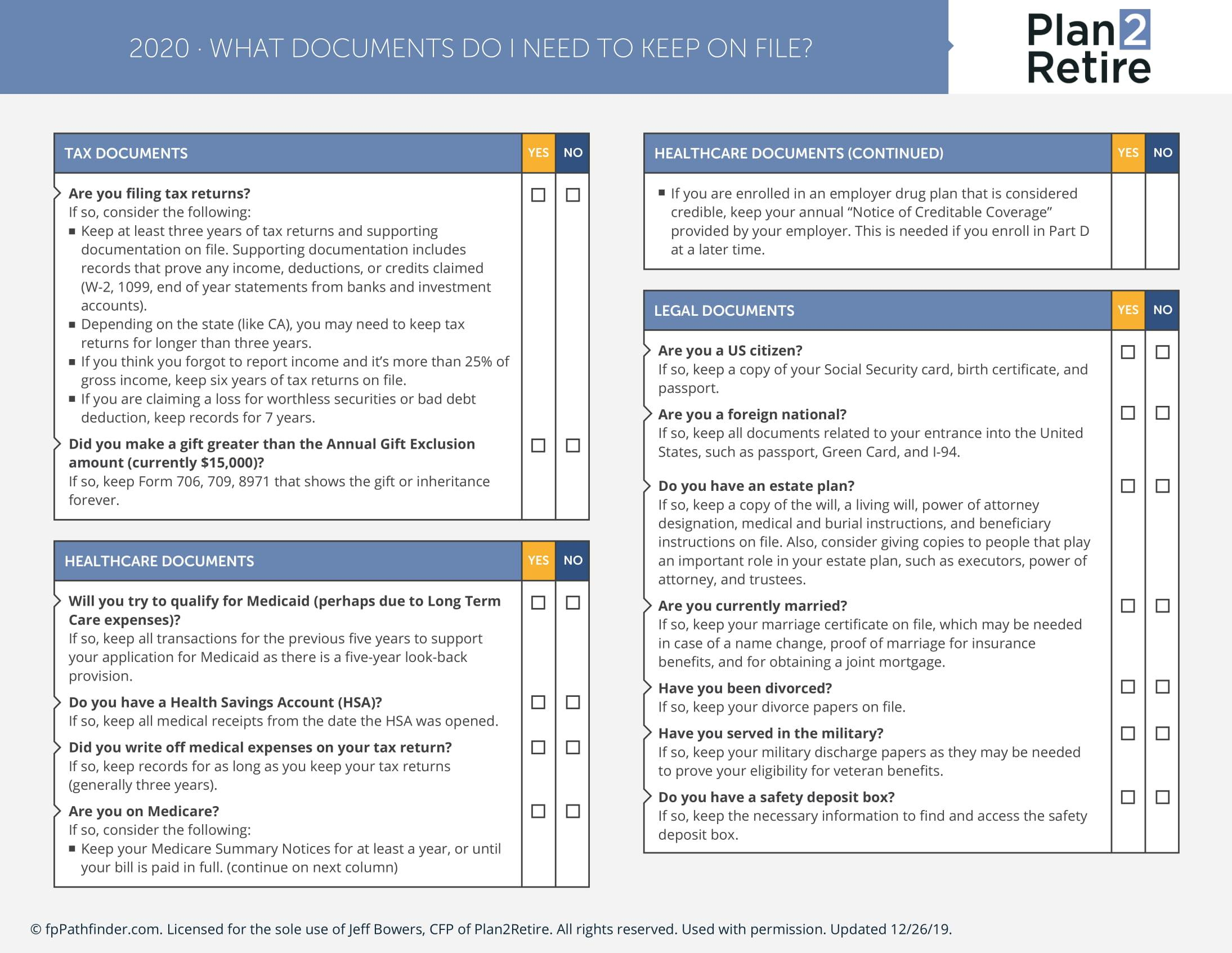What documents do I need to keep on file? Thumbnail