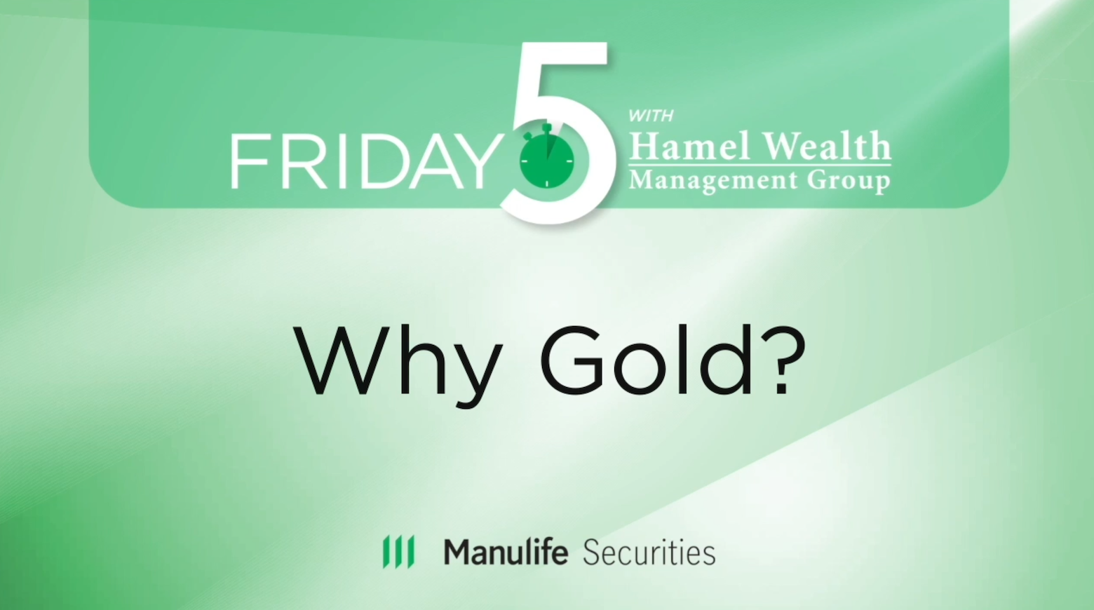 Friday 5 - Why Gold? - Graeme Cooper Thumbnail