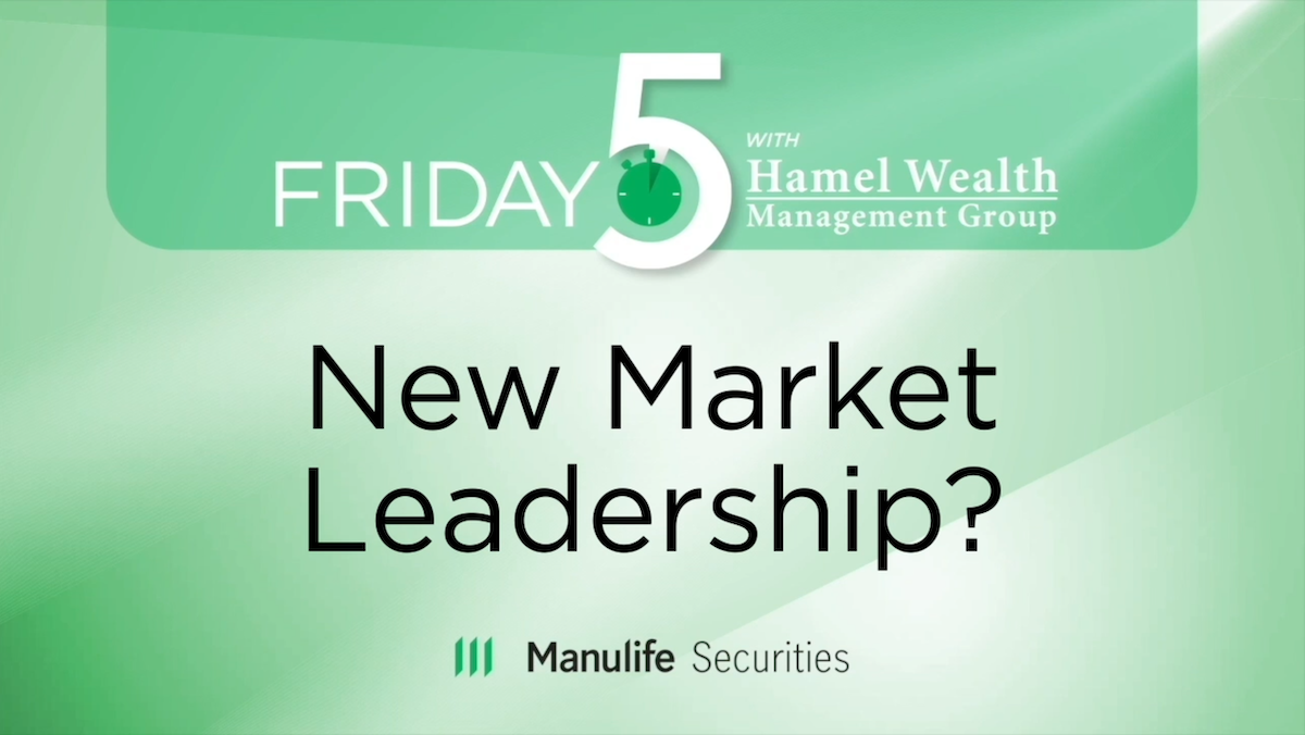 Friday 5 - Greg Taylor - New Market Leadership? Thumbnail