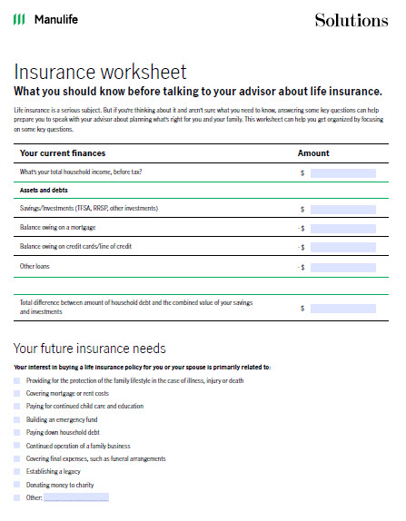 Image of insurance checklist
