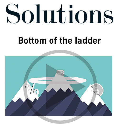Solutions video. Bottom of the ladder. Click to play video.