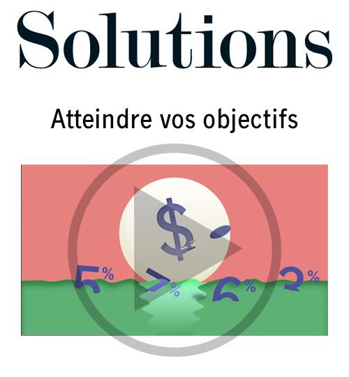 Vidéo Solutions. Atteindre vos objectifs. Cliquer pour regarder la vidéo.