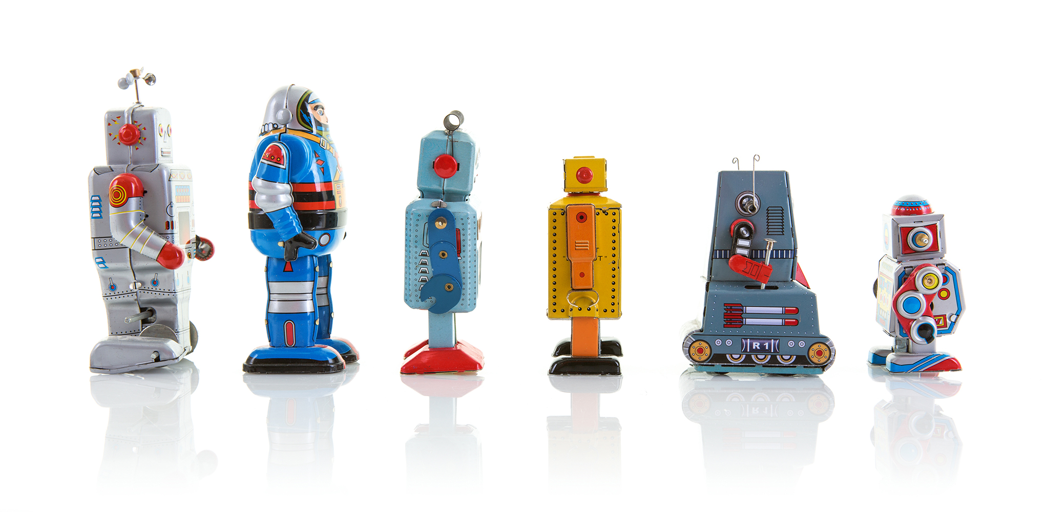 image of robots lined up