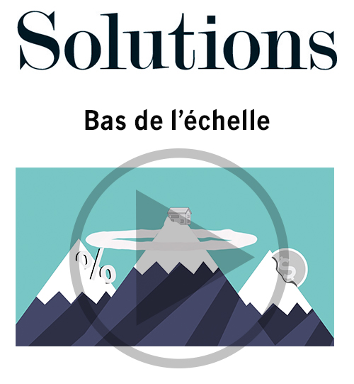 Vidéo Solutions. Bas de l'échelle. Cliquer pour regarder la vidéo