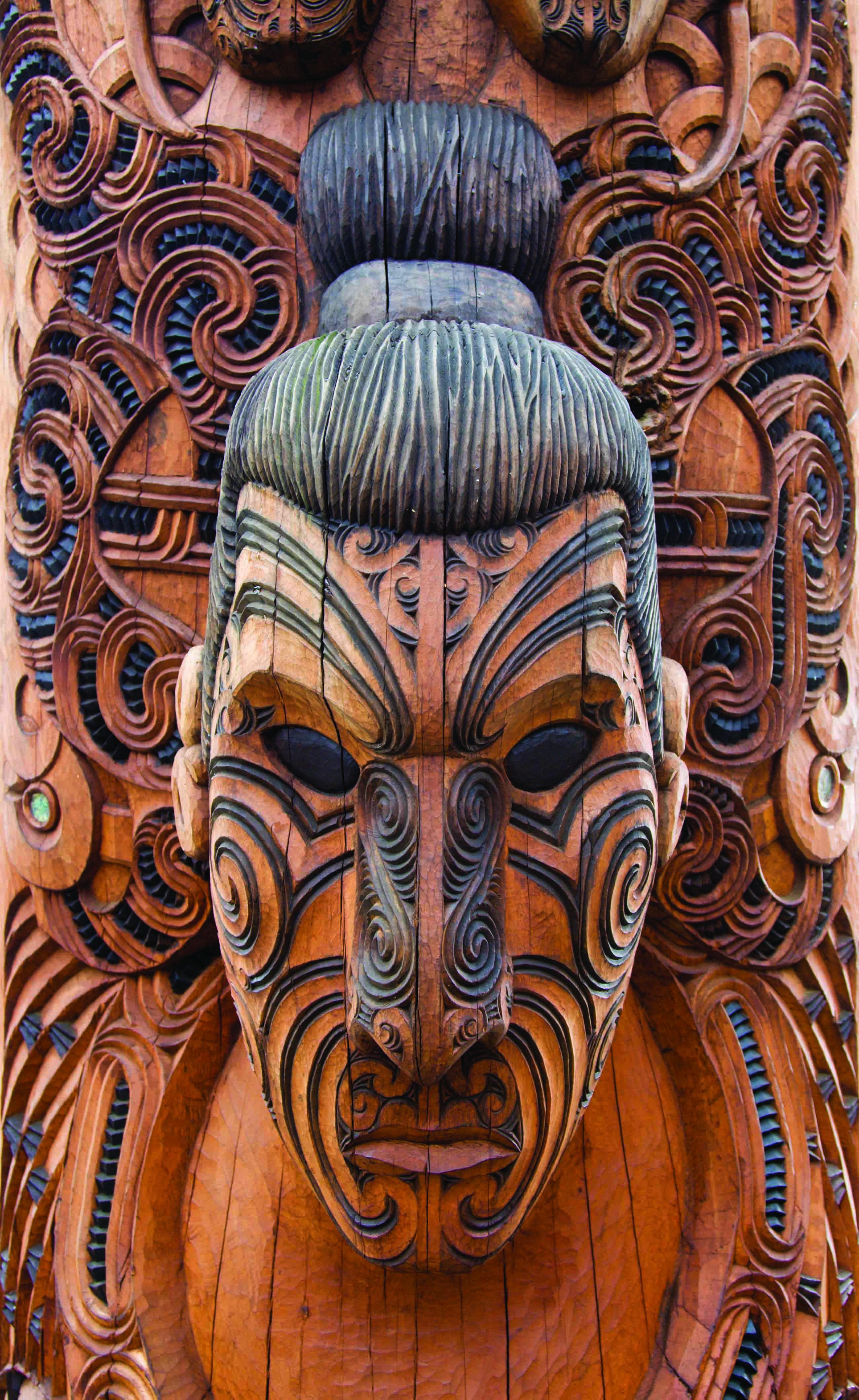 Les sculptures maorie au centre Te Puia à Rotorua
