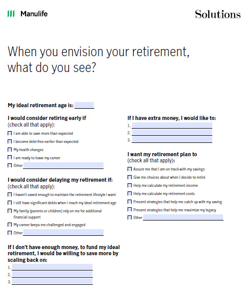 Retirement planning worksheet. Click to open pdf.