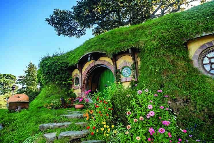 visitez les 44 trous de Hobbits du plateau de tournage Hobbiton