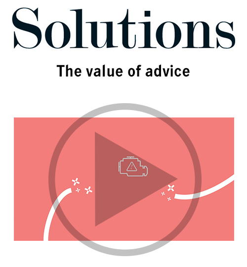 Solutions video. The value of advice. Click to play video.