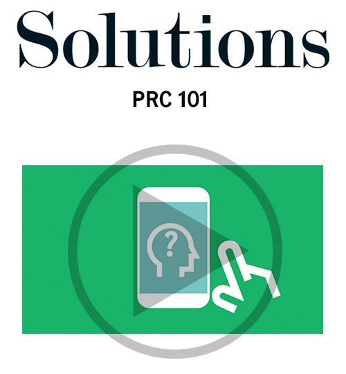 Vidéo Solutions. PRC 101. Cliquer pour regarder la vidéo